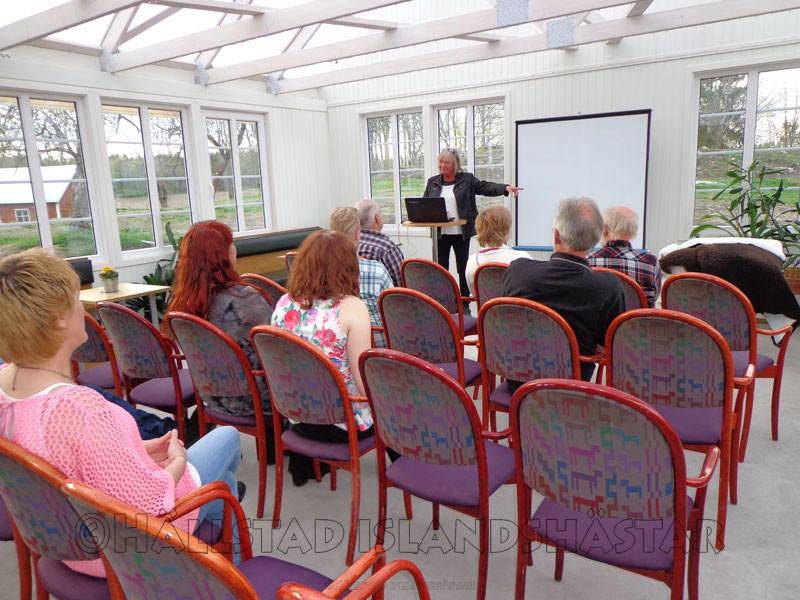 Konferens på café Kronogården, Hällstad Islandshästar AB, turridningar.se